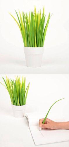 """a little flowerpot on the desk"" pooleaf pen by zeup design studio"