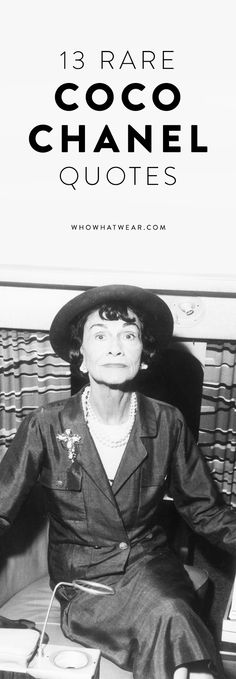 Fashion and live advice from Coco Chanel that every fashion girl should know