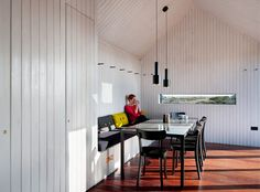 在斜屋頂的小房子裡,看著周圍的景色,喝杯茶放鬆心情!