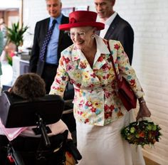 "Royal Hats on Twitter: ""Queen Margrethe back to signature bright colours for Day 2 of her summer cruise"