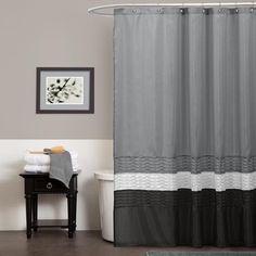 Lush Decor Mia Grey Shower Curtain