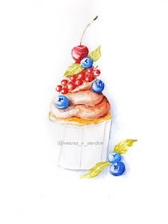 Check out this item in my Etsy shop https://www.etsy.com/ru/listing/252496094/cream-watercolor-cupcakes
