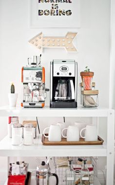 This Just In: The Coffee Cart Is The New Bar Cart  - ELLEDecor.com
