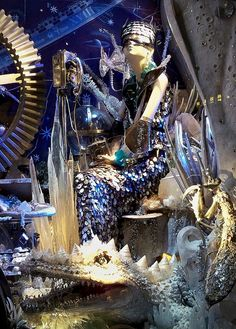 Bergdorf Goodman Christmas window display