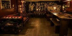 10 Best Speakeasy Style Bars in East London Speakeasy Bar, Cocktail Bars London, Best Cocktail Bars, Man Cave Paintings, Cocktail Bar Interior, Man Cave And Workshop, Fake Walls, Modern Man Cave