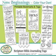 Luke 10 13 Color Your Own Bookmarks Bible Journaling