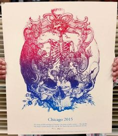 Grateful Dead - Fare Thee Well - Chicago - Artist: Kyle Baker / 1st Edition