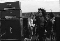 Paul Stanley returning to the stage for an encore at the 1974 KSHE Kite Fly