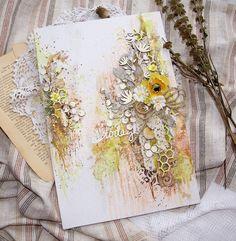Рукодельные фантазии: Весеннее панно. Мастер-класс. Spring Canvas. Tutorial