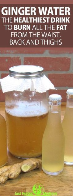 Ginger Water: The Healthiest Drink To Burn All The Fat From The Waist, Back And Thighs! - Yerlist