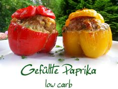 Gefüllte Paprika low carb – schlank mit verstand You are in the right place about Soup Recipes asian Healthy Low Carb Recipes, Healthy Eating Tips, Low Carb Keto, Keto Recipes, Healthy Dinner Recipes, Dieta Atkins, Vegetable Soup Healthy, Healthy Vegetables, Law Carb