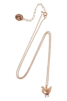 Alex Monroe | Fat Hen 22-karat rose gold-plated necklace  | NET-A-PORTER.COM