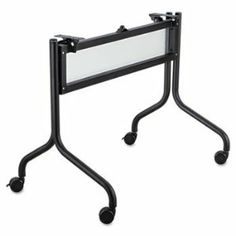"""Safco Impromptu Mobile Training Table Base by Safco. $265.00. 1-1/4"""" tubular steel with white translucent polycarbonate modesty panel. Four 2"""" dual wheel casters (two locking) for easy mobility. Top and Base sold and shipped separately?ORDER BOTH. Base Color: Black."""