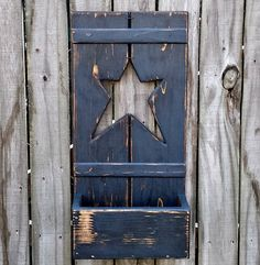 Primitive Shutter Box  Painted Wood Storage by GypsyWindPrimitives