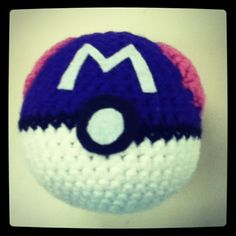 Amigurumi Master Ball : Amigurumi Pattern Pokemon Inspired Master Ball Pokemon ...