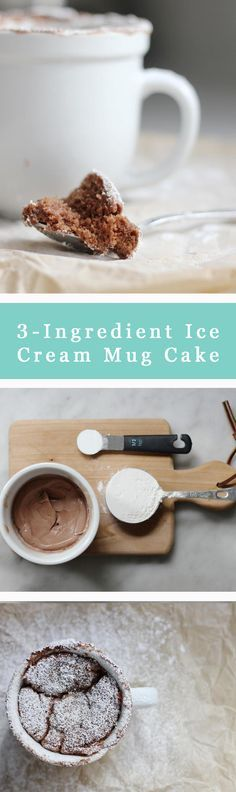 Mug cakes tend to end up dry and bland, but this secret ingredient will make sure your cake turns out moist and flavorful: ice cream. Just add cake flour and baking powder and this 3-Ingredient Mug Cake will be a delicious reality.