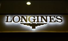 LED Side-lit Signs With Brushed Stainless Steel Front-panel For Longines Company Signage, Outdoor Signage, Restaurant Signs, Wall Accessories, Led Module, Brushed Stainless Steel, Neon Signs, Transformer 1, Unique
