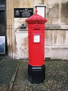 Victorian Penfold Pillar Box outside King's College, Cambridge.