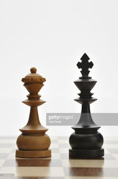 Stock Photo : King and Queen of Chess