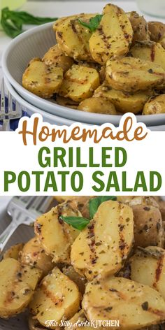 Tender baby yellow potatoes basted in a tangy pesto marinade and grilled to make the most delicious Homemade Grilled Potato Salad. #potatosalad #sidedish Cookout Side Dishes, Pesto Potatoes, Yellow Potatoes, Baby Yellow, Backyard Bbq, Potato Salad, Grilling, Easy Meals, Appetizers