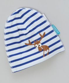 Blue & White Stripe Moose Hat by Wrap Up: Kids' Accessories on #zulilyUK today!