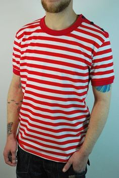 Black And White Roll Crew - Striped & Patterned T-shirts -Mens T ...