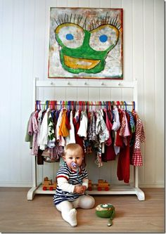 Using a Hanging Clothes Rack