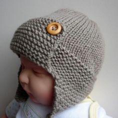 knitting+for+baby+boys | Knitting pattern for Baby Aviator Hat -. | Baby boy