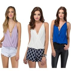 2016 Hot Sale Summer Women Shirt Sexy V-neck Camis Chiffon Tops Casual Sleeveless Solid Ladies Blouse Tops Fashion Camisas Mujer-Where2buy