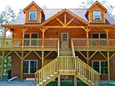 Highlands Log Home Series by Blue Ridge Log Cabins #cabin #loghome #floorplan #cabinplans