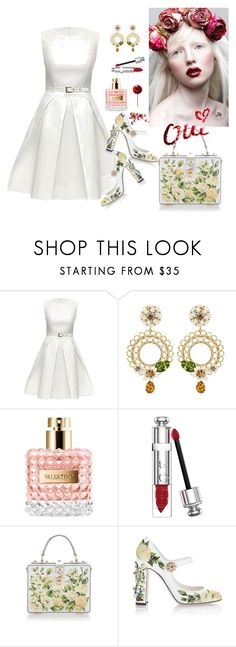 """Untitled #14"" by tato-eleni ❤ liked on Polyvore featuring Lattori, Dolce&Gabbana, Valentino, Albino and Christian Dior"