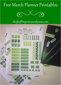 A Life of Projects | Free Printable Planner Stickers