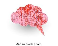 Old Rough Talk Bubble - Abstract Messy Red Comic...