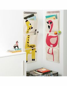 Flamingo Hanging Wall Organizer by 3 Sprouts, Storage & Shelves, Decor for Girls