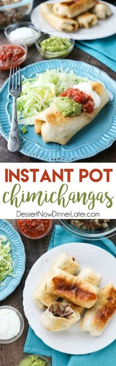 Instant Pot Chimichangas are a favorite family dinner with tender shredded beef, seasoned to perfection, and wrapped in tortillas to fry or bake. #instantpot #pressurecooker #cincodemayo #mexican