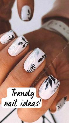 Cute Gel Nails, Chic Nails, Fancy Nails, Stylish Nails, Trendy Nails, My Nails, Cute Nail Art, Best Acrylic Nails, Acrylic Nail Designs
