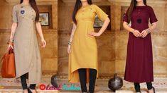 Wedding Wallpaper, Plain Kurti Designs, College Wear, Cute Dresses, Summer Dresses, Indian Look, Dress Neck Designs, Wardrobe Basics, How To Look Classy