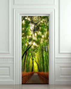 "I adore this idea for the back of a doorway!  Starting around $50...Wall Door STICKER bamboo, forest, road, way, passageway, poster, mural, decole, film 30x79"" (77x200 Cm) Pulaton,http://www.amazon.com/dp/B00EG91YK6/ref=cm_sw_r_pi_dp_405ltb1KPSAKN07V"