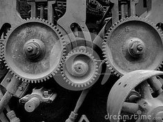 Old machinery with gears by Chrislatham, via Dreamstime
