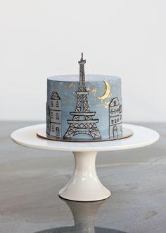 Eiffel tower birthday cake by Opulent Cake Company