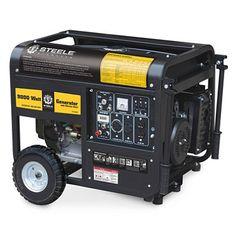 Steele 9,000 Watt Gas Generator with Electric Start clearance Sams Club  649.00