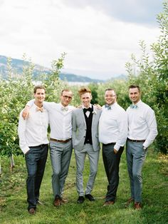 Casual #Groomsmen | Ryan Ray Photography | See more on #SMP Weddings - http://www.stylemepretty.com/2013/12/05/orchard-wedding-from-ryan-ray-photography/