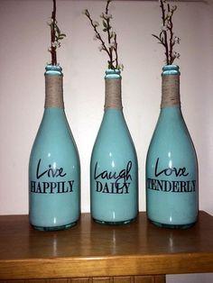 Cool Wine Bottles Craft Ideas (23)