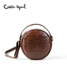 Cobbler Mini Disc Crossbody Leather Bag
