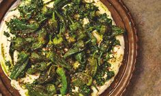 Yotam Ottolenghi's butterbean mash with padrón peppers and jalapeño sauce