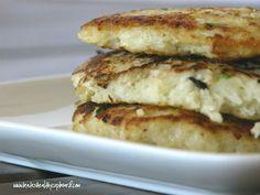 """Notato"" Pancakes  (flourless cauliflower pancakes)  www.kateshealthycupboard.com"