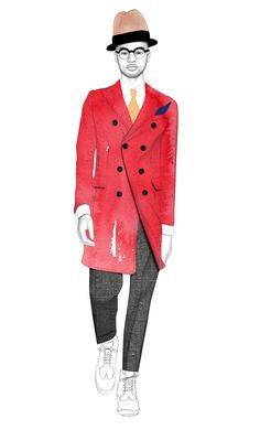 Men's fashion illustration by Nicole Jarecz