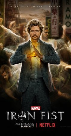 Created by Scott Buck.  With Finn Jones, Jessica Henwick, Jessica Stroup, Barrett Doss. A young man is bestowed with incredible martial arts skills and a mystical force known as the Iron Fist.