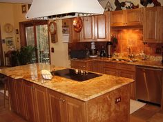 Kitchen Cabinets And Granite Countertops the best color granite countertop for honey oak cabinets | honey
