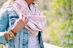 Pretty lightweight floral scarf #shopnataliemay